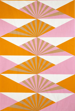 Photo of Sunrise, furnishing fabric, Lucienne Day, 1969, England. Museum no. CIRC.39-1969. © Robin and Lucienne Day Foundation/Victoria and Albert Museum, London