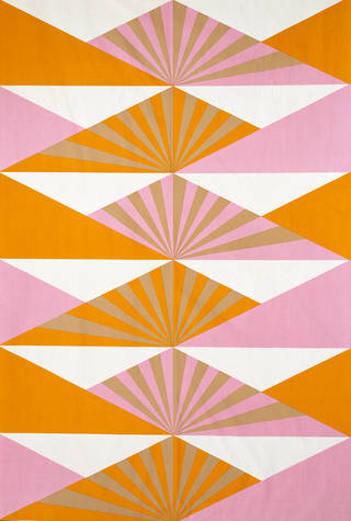 Sunrise, furnishing fabric, Lucienne Day, 1969, England. Museum no. CIRC.39-1969. © Robin and Lucienne Day Foundation/Victoria and Albert Museum, London