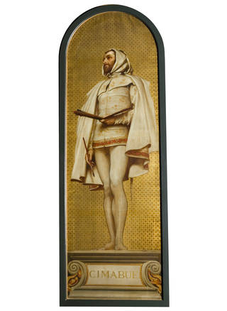 Giovanni Cimabue: design for a mosaic in the South Kensington Museum, Frederic Leighton, 1868, England. Museum no. 1140-1868. © Victoria and Albert Museum, London