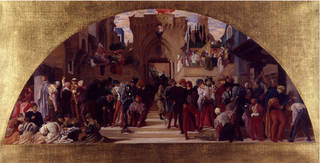 Sketch for spirit fresco The Arts of Industry as Applied to War, Frederic Leighton, 1870 – 2, England. Museum no. 992-1873. © Victoria and Albert Museum, London