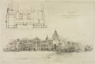 Design for the completion of the South Kensington Musuem, Aston Webb, 1891. Museum no. E.1334-1963. © Victoria and Albert Museum, London