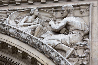 'Beauty' sculpture on the grand entrance, George Frampton, 1905 – 7. © Victoria and Albert Museum, London