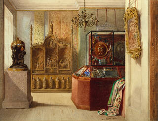 The First Room at Marlborough House, William Linnaeus Cassey, 1856. Museum no. 7279. © Victoria and Albert Museum, London