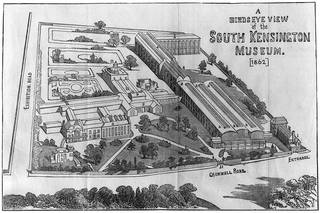 A Bird's Eye View of South Kensington Museum, from Clarke's Handbook, 1862. © Victoria and Albert Museum, London