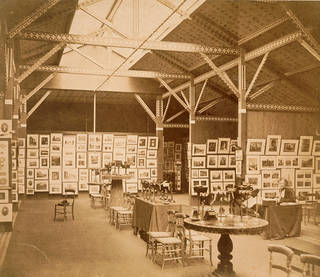 Exhibition of the Photographic Society of London held in the Refreshment Rooms at the South Kensington Museum, Charles Thurston Thompson, 1858. Museum no. MA/32/365. © Victoria and Albert Museum, London