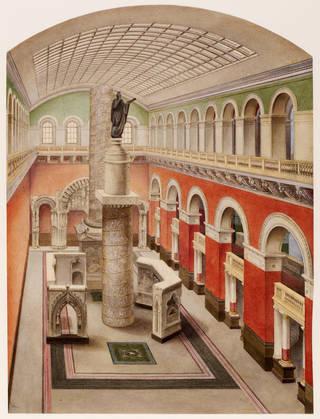 2010eh3053 western architectural court watercolour d.564 1905