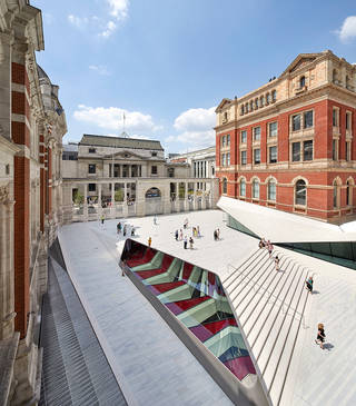 The Sackler Courtyard and Cafe, V&A Exhibition Road Quarter, designed by AL_A. © Hufton+Crow