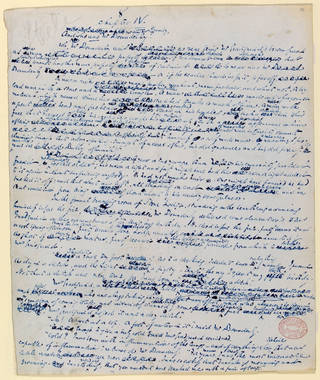 Original manuscript folio page from Hard Times, Vol.1 by Charles Dickens, 1854. Museum no. Forster MS 163. © Victoria and Albert Museum, London