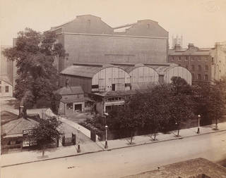 The South Kensington Museum, remains of the 'Brompton Boilers' south of the Cast Courts, about 1897. © Victoria and Albert Museum, London