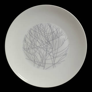 Photo of Four Seasons: Winter, plate, Lucienne Day, 1958 – 9, England. Museum no.  C.136-2012. © Robin and Lucienne Day Foundation/Victoria and Albert Museum, London