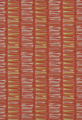 Photo of Foreshore, furnishing fabric, Lucienne Day, 1952, England. Museum no. CIRC.143-1953. © Robin and Lucienne Day Foundation/Victoria and Albert Museum, London
