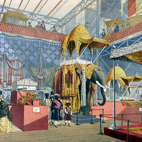 The Indian Court at the Great Exhibition (custom print)