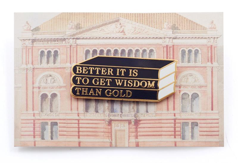Get Wisdom enamel pin