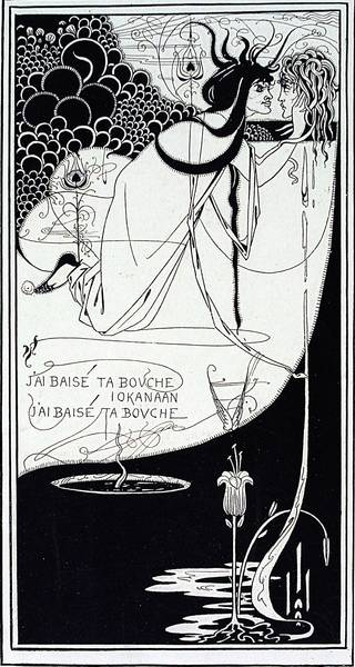 The Climax, print, Aubrey Beardsley, 1894, England. Museum no. E.436-1972. © Victoria and Albert Museum, London