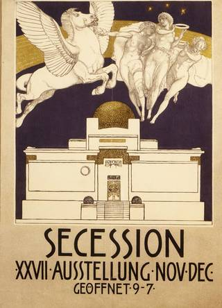 Poster advertising the 27th Secession exhibition, Rudolf Jettmar, 1903, Austria. Museum no. E.285-1982. © Victoria and Albert Museum, London
