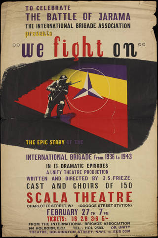 Poster for 'We Fight On', printed by F. D. Hull, about 1950, England. Museum no. S.58-2011. © Victoria and Albert Museum, London