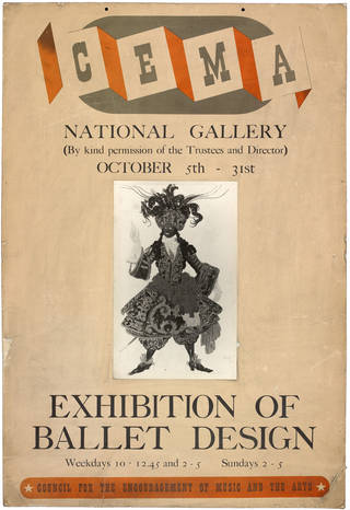CEMA Exhibition of Ballet Design, poster, 1943, England. Museum no. S.3460-1995. © Victoria and Albert Museum, London