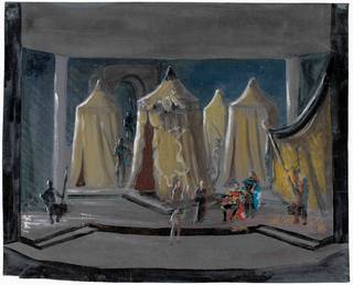Set design for Coriolanus, Motley, about 1952, England. Museum no. S.2371-1986. © Victoria and Albert Museum, London