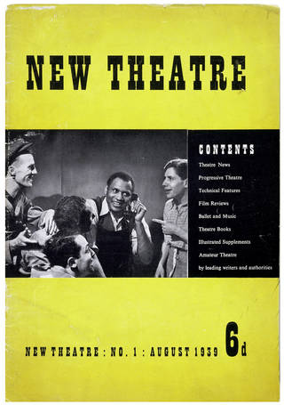 New Theatre magazine, Unity Theatre, 1939, England. © Victoria and Albert Museum, London