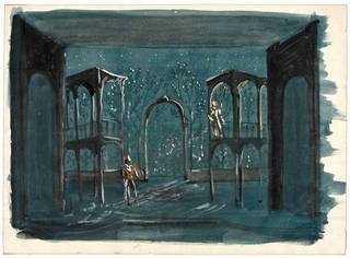 Set design for Romeo and Juliet, Motley, about 1958, England. Museum no. S.2356-1986. © Victoria and Albert Museum, London