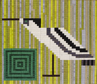 Decoy and Pond (no. 1), silk mosaic, Lucienne Day, 1983, England. Museum no. T.45-2002. © Robin and Lucienne Day Foundation/Victoria and Albert Museum, London