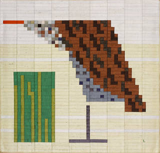 Decoy and Pond (no. 2), silk mosaic, Lucienne Day, 1983, England. Museum no. T.46-2002. © Robin and Lucienne Day Foundation/Victoria and Albert Museum, London