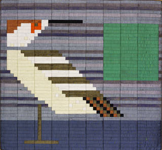 Decoy and Pond (no. 3), silk mosaic, Lucienne Day, 1983, England. Museum no. T.47-2002. © Robin and Lucienne Day Foundation/Victoria and Albert Museum, London