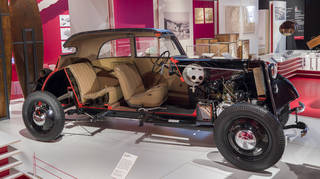 Cut-away car (F7 model), designed and manufactured by DKW, Germany, designed 1937, manufactured 1938. Collection of the Deutsches Museum, Munich. Photograph Victoria and Albert Museum, London