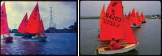 Mirror dinghies racing, Britain, 1960s. Photographs courtesy Graeme Partridge