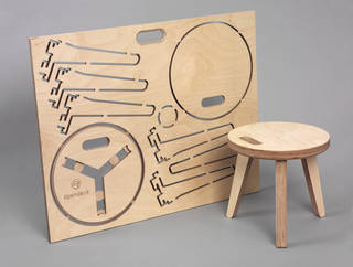 'Edie Stool', designed by David and Joni Steiner for Opendesk, 2013, London. Museum nos. W.28-2016 (assembled) and W.29-2016 (unassembled). © Opendesk. Photograph Victoria and Albert Museum, London