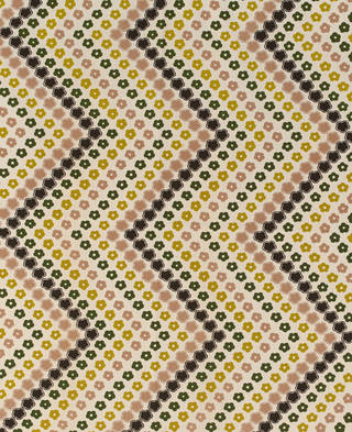 Photo of Hazy Daisy, furnishing fabric, Lucienne Day, 1971, England. Museum no. T.440-2001. © Robin and Lucienne Day Foundation/Victoria and Albert Museum, London