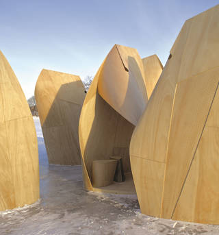 Pop-up talk: Patkau Architects Skating Shelters photo