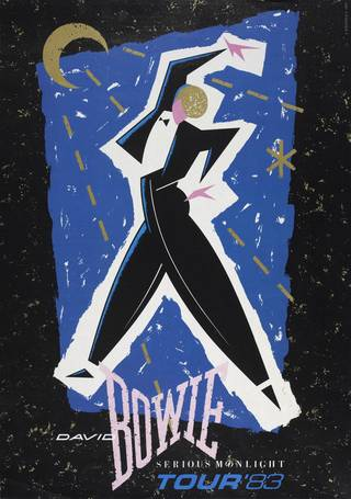 David Bowie Serious Moonlight Tour poster, Mick Haggerty, 1983, Uk. Museum no. S.4618-1995. © Victoria and Albert Museum, London