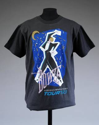 David Bowie Serious Moonlight Tour t-shirt, Mick Haggerty, 1983, Uk. Museum no. S.1526-2014. © Victoria and Albert Museum, London