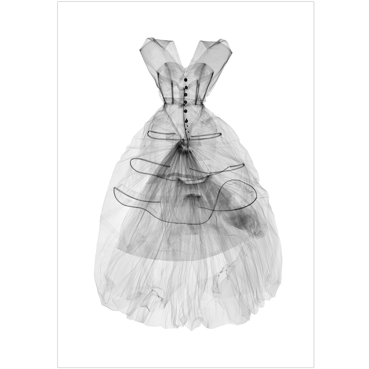X-Ray Dress print by Nick Veasey