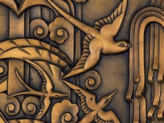 Background image: Frieze panel, designed by Walter Gilbert, made by Bromsgrove Guild of Applied Art, 1933, England. Museum no. M.262-1984. © Victoria and Albert Museum, London Frieze panel (detail), designed by Walter Gilbert, made by Bromsgrove Guild of Applied Art, 1933, England. Museum no. M.262-1984. © Victoria and Albert Museum, London