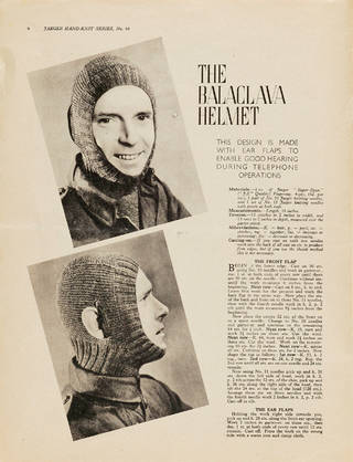 V&A · 1940s knitting patterns
