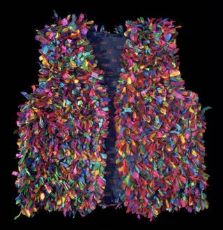 Rag rug waistcoat, John Allen, 1990, England. Museum no. T.229-2001. © Victoria and Albert Museum, London