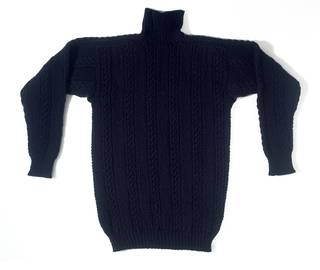 Gansey jumper, unknown maker, 1980, Staithes, England. Museum no. T.47-1989. © Victoria and Albert Museum, London