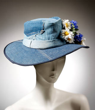 Hat, Mr Denim, about 1970, Britain. Museum no. T.126-1996. © Victoria and Albert Museum, London