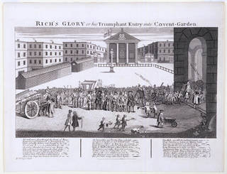 Photo of Rich's Glory or his Triumphant Entry into Covent-Garden, engraving, William Hogarth, 1811, England. Museum no. S.45-2008. © Victoria and Albert Museum, London