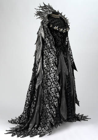 Photo of Costume for the Fairy Queen in Gilbert and Sullivan's opera Iolanthe, D'Oyly Carte Opera Company, designed by Bruno Santini, made by David Garrett, 1977, England. Museum no. S.348 to I-1985. © Victoria and Albert Museum, London