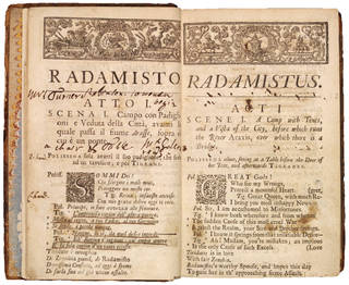Photo of Libretto for Radamisto by George Frideric Handel and Nicola Francesco Haym, printed by Thomas Wood, 1720, London. Museum no. S.501-1985. © Victoria and Albert Museum, London