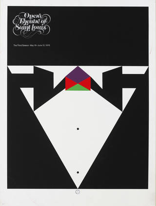 Photo of Poster advertising the Opera Theatre of St. Louis, Missouri, 1978. Museum no. S.898-2015. © Victoria and Albert Museum, London