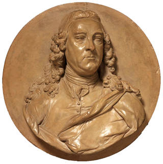 Relief of George Frideric Handel, Louis-François Roubiliac, 1750 – 60, England. Museum no. A.11-1961. © Victoria and Albert Museum, London
