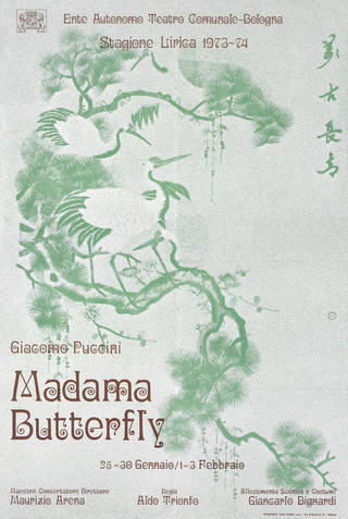 Poster for Madam Butterfly, Poligrafici Luigi Parma, 1974, Italy. Museum no. S.482-2015. © Victoria and Albert Museum, London