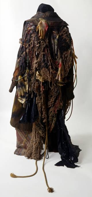 Costume for a tramp in Mark Anthony Turnage's opera Greek, designed by David Blight, 1990, England. Museum no. S.1097-1995
