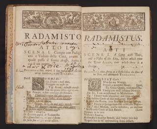 Libretto for Handel's Radamisto, George Frideric Handel and Nicola Francesco Haym, printed by Thomas Wood, 1720, England. Museum no. S.501-1985. © Victoria and Albert Museum, London