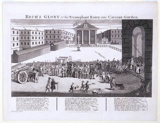 Rich's Glory or his Triumphant Entry into Covent-Garden, engraving, William Hogarth, 1811, England. Museum no. S.45-2008. © Victoria and Albert Museum, London
