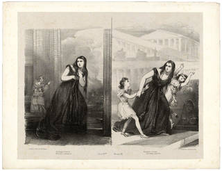 Giuditta Pasta as Medea in Mayr's opera Medea, lithograph, 19th century, England. Museum no. S.1458-2009. © Victoria and Albert Museum, London